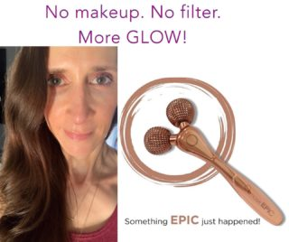 *My naked face, dark circles & all! Almost 44 years old (in Nov!) Very impressed with results from this new EPIC tool!* 🤩🤩🤩 The EPIC Skin Tool is a patent-pending tool designed to maximize the performance of your skincare by promoting deeper penetration of active ingredients, without compromising skin health. BENEFITS: * Weighted handle featuring hundreds of mini-pyramids that penetrate just beyond the lipid barrier. * Up to 30% more of a product's active ingredients will penetrate  deeper and perform more effectively. * 360-degree, angled rollers that gently glide over facial contours creating micro-channels in a safe zone. * Increases circulation, firms, and re-energizes the skin. * Can be used safely anywhere on the face, neck, or body, and on most skin types. (We do not recommend the EPIC Skin Tool for people severe acne, rosacea, or dermatitis). * Supports lasting results at-home between professional treatments by enhancing any skincare routine for faster, more advanced results. DEFINITELY keeping this as a part of my regular daily home care regimen! ##osmosisbeauty #osmosisskincare #holisticskincare #naturalskin #betterresults #skincareroutine #skinglow #newskincare #lovethis